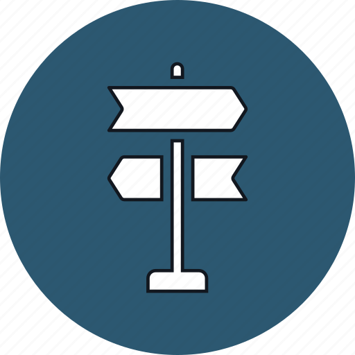 roadsign, sign, signpost, travel icon