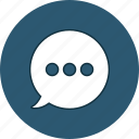 bubble, chat, comment, message icon