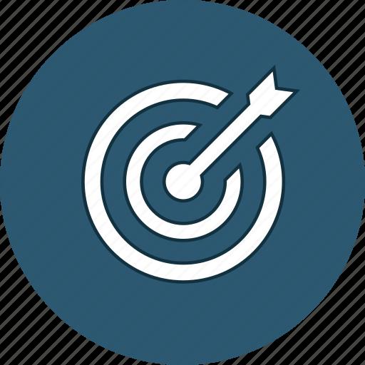 aim, arrow, aspiration, darts, goal, target, web icon