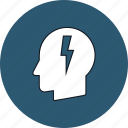 business, head, idea, lightning, mind, thinking, thought icon