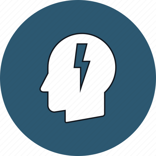 business, head, idea, lightning, mind, thinking, thought icon