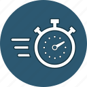 chronometer, deadline, running, stopwatch, time, watch icon