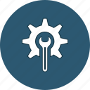 cogwheel, gear, setting, settings, spanner, tool, wrench icon