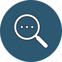 information, magnifier, search, seek icon