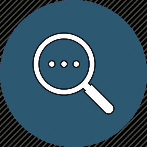 information, magnifier, search, seek icon