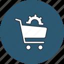 buy, cart, codwheel, ecommerce, setting, settings, shop icon