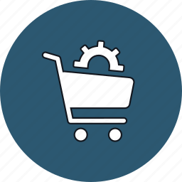 buy, cart, ecommerce, settings icon