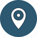 gps, location, map, navigation, pin, round, web icon