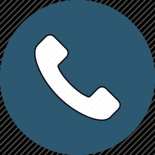 call, mobile, phone, round, telephone, web icon