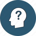 head, mind, question, thinking icon
