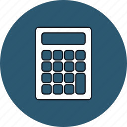 calculate calculation calculator math, calculation, calculator, calculator math, math, round icon