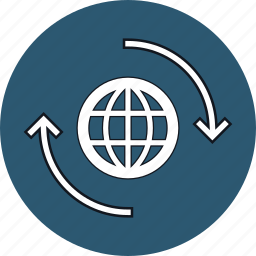 around the world, globe, service, web icon