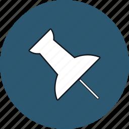 fasten, pin, push, pushpin, tack, thumb, thumbtack icon