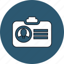 badge, card, id badge, id card icon