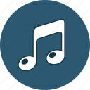 audio, music, note, song icon