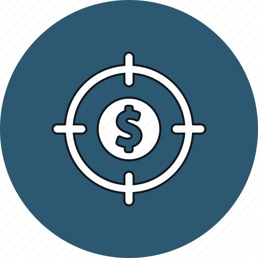 aim, crosshair, dollar, finance, money, target icon