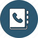 call, contacts, dial, phonebook icon