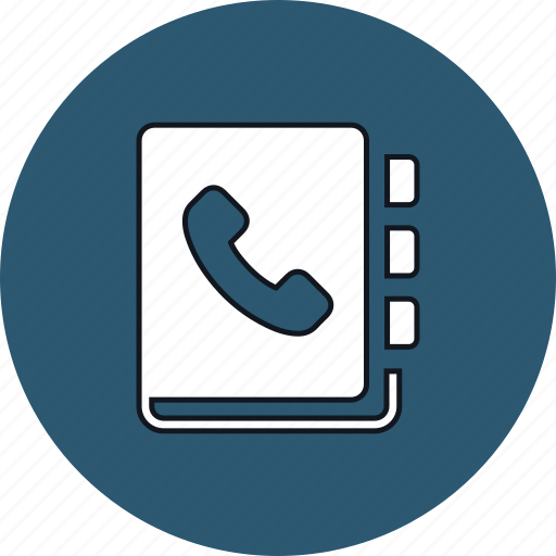accounts, call, contacts, dial, phone, phonebook icon