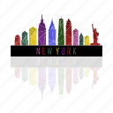 america, city, new york, states, united, york icon