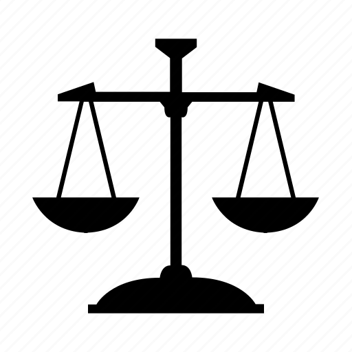 exercise, fitness, justice, law, scale, weight icon