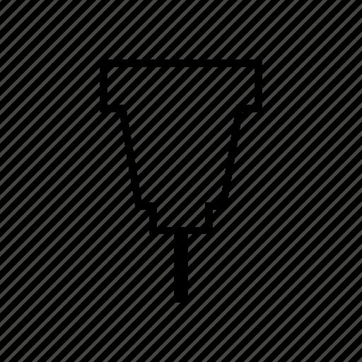 arrow, drawing pin drawing, map, navigation, pin, up icon