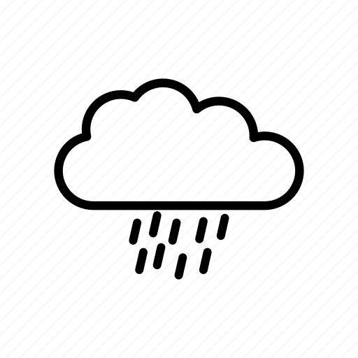 cloud, data, forecast, rain, storage, weather icon