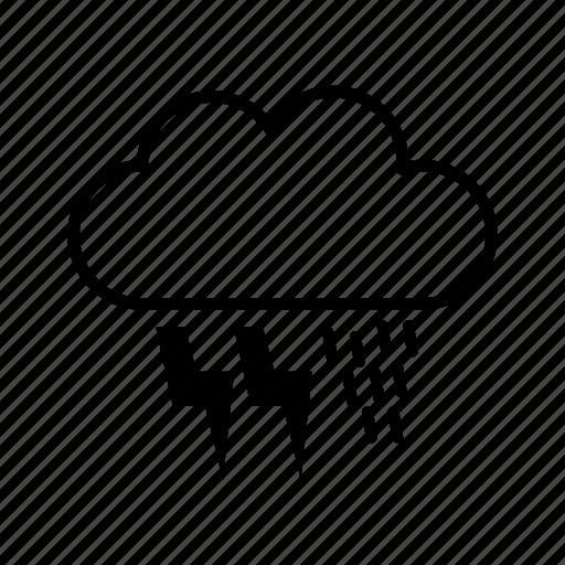 cloud, data, rain, storage, weather icon