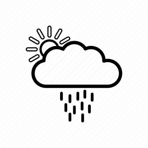 cloud, data, document, forecast, rain, storage, weather icon