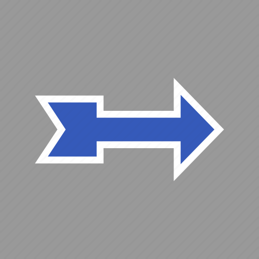 arrow, arrows, direction, download, pointer, right icon