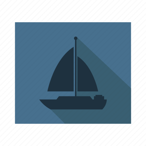 beach, boat, sail boat, sea, ship icon