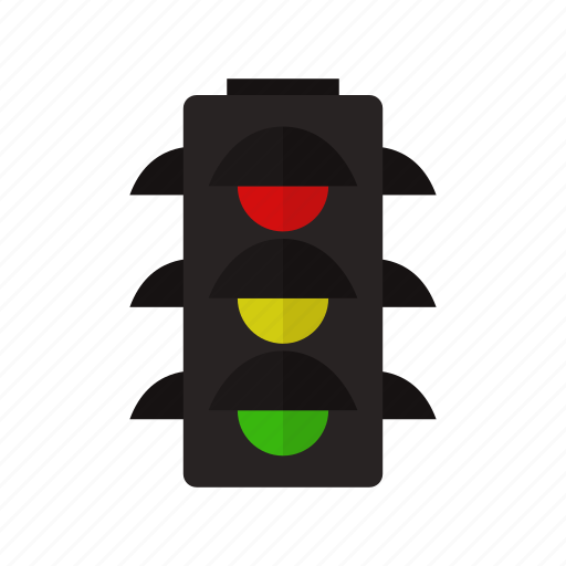 car, traffic, traffic light, transport, transportation icon