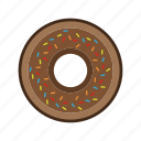 cooking, dessert, donut, food, healthy, kitchen, restaurant icon
