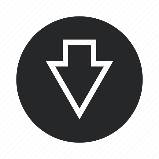 arrow, direction, down, location, navigation, right icon