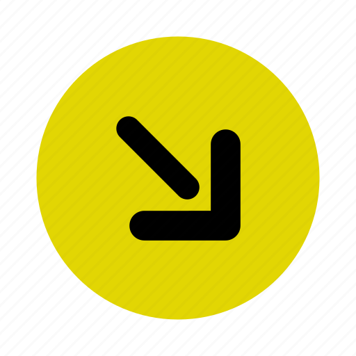 arrow, direction, down, map, navigation, right icon