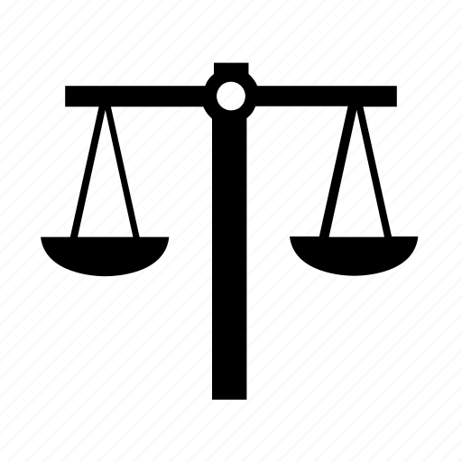 balance, gym, justice, law, scale, weight icon