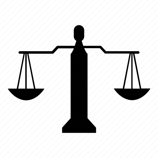 balance, justice, law, ruler, scale, weight icon