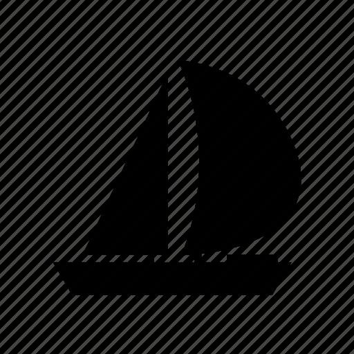 beach, boat, sail, sea, ship, summer, vacation icon