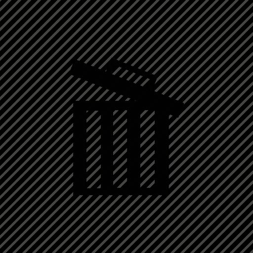 bin, can, full, full bin, full can, full recycle bin, full trashbin, full trashcan, garbage, recycle, recycle bin, trash, trash can icon