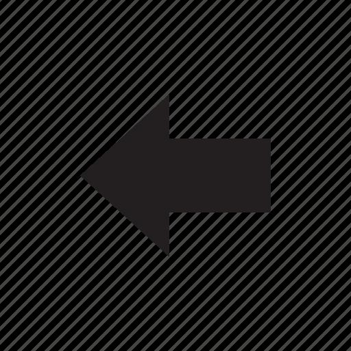 arrow, back, left, left arrow, prev, previous icon