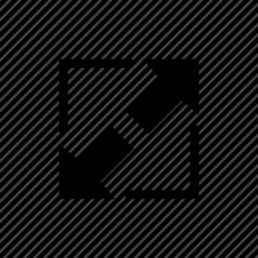 arrow, enlarge, expand, image, resize icon