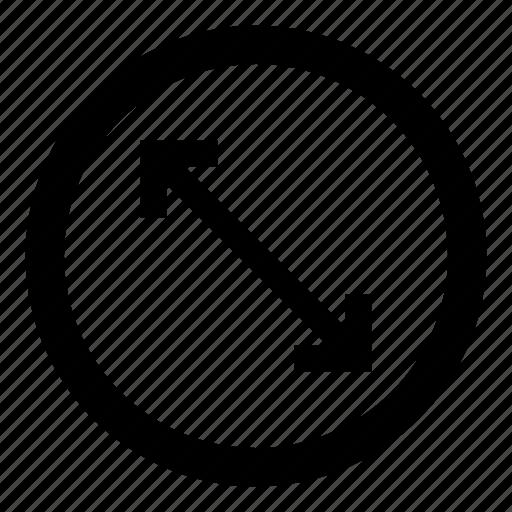 circle, diameter, measure, resize, round, size icon