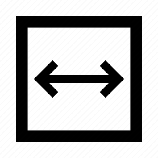 expand, horizontal, resize, vector, width icon