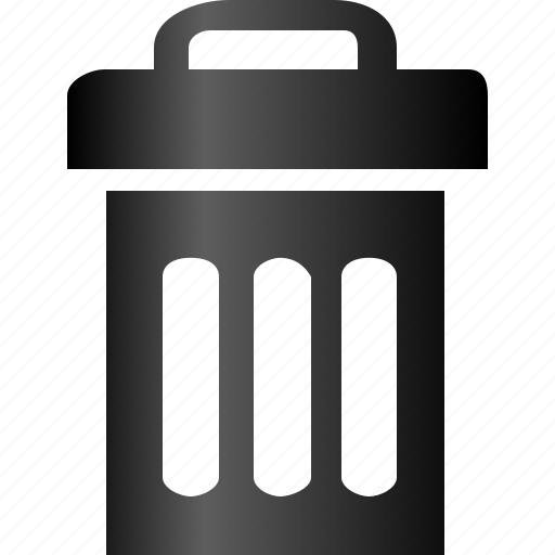 recycle bin  recycling  remove  resycle  trash bin  trash canRecycle Bin Icon Black