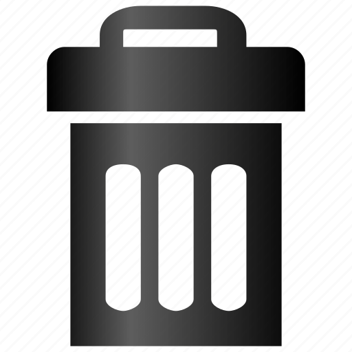 bin, can, close trash, delete, destroy, dust bin, empty, garbage, recycle, remove, trashcan icon