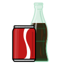 beverage, bottle, can, coke, drink, food, vectr