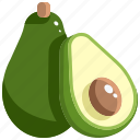 avocado, diet, food, market, supermarket, vegan, vegetarian icon
