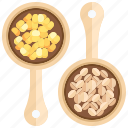 seed, cereal, beans, coffee, bean, grains, grain icon