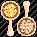 bean, beans, cereal, coffee, grain, grains, seed icon