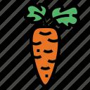 carrot, diet, food, vegan icon