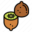 fruit, kiwi, organic, vegan icon